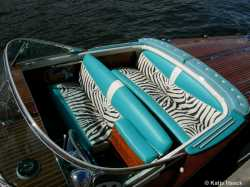"The spectacular Zebra upholstery of Tritone #223 ""Graal""."