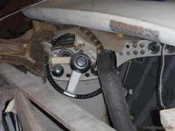 Steering wheel used from 1956-58. (This on Tritone #36, 1957)