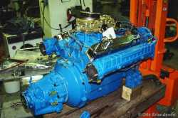 Chrysler M413D big block engine (290hp) used for the 7 last built Super Tritone in 1963.